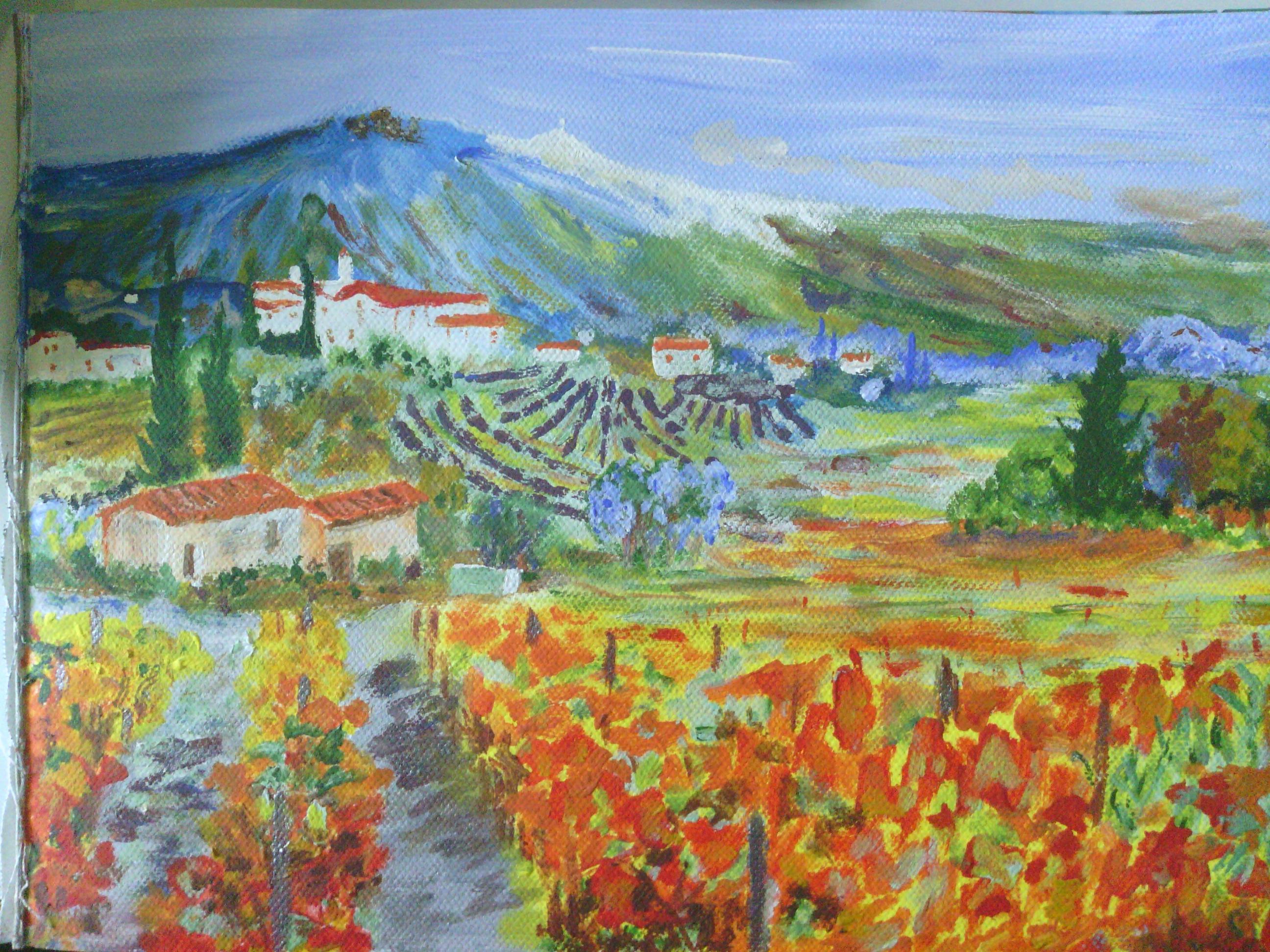 Edualc claudius paysage du mont ventoux for Peinture peinture